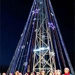 Южная Корея зажгла гигантскую рождественскую ёлку на границе с КНДР