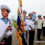 В КНДР с визитом прибыл отряд учебных кораблей ВМС Китая