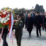 Сотрудники посольства РФ в Пхеньяне почтили память воинов Советской Армии