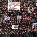Участники митинга в Пхеньяне обещали отомстить за оскорбление руководства