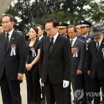Президент РК почтил память погибших в бою у острова Ёнпхёндо в июне 2002 года