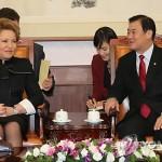 Президент РК встретился со спикером Совета Федерации РФ