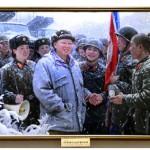 """Художественная выставка """"Великий вождь товарищ Ким Чен Ир всегда будет с нами"""""""