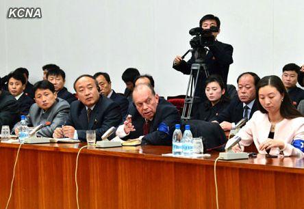 Иностранные журналисты на пресс-конференции в Пхеньяне. Фото: ЦТАК