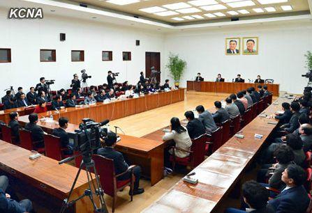 Пресс-конференция северокорейских перебежчиков. 24.01.2012 Пхеньян. Фото: ЦТАК