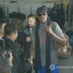 Американский баскетболист Деннис Родман прибыл в КНДР в сопровождении съемочной группы