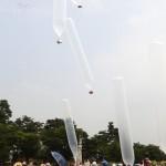 Южнокорейские активисты запустили шары с печеньем на территорию КНДР