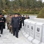 У кладбища павших воинов 790-й  войсковой части ВМС КНА