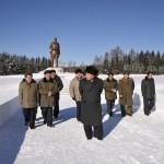 На месте революционной и боевой славы  у озера Самчжи