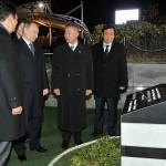 Возложение цветов к памятнику погибшим морякам крейсера «Варяг» и канонерской лодки «Кореец»