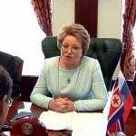 Председатель СФ В. Матвиенко провела переговоры с Председателем Верховного Народного Собрания КНДР Цой Тхэ Боком