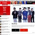 K-pop группа Big Bang  вторые в рейтинге 100 самых влиятельных людей по мнению читателей журнала Time