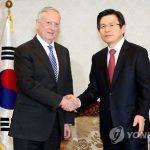 Новый глава Пентагона подтвердил обязательства США перед Южной Кореей