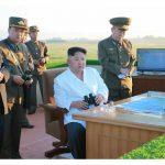 Ким Чен Ын осмотрел испытательную стрельбу системы оружия противоракетной обороны нового типа