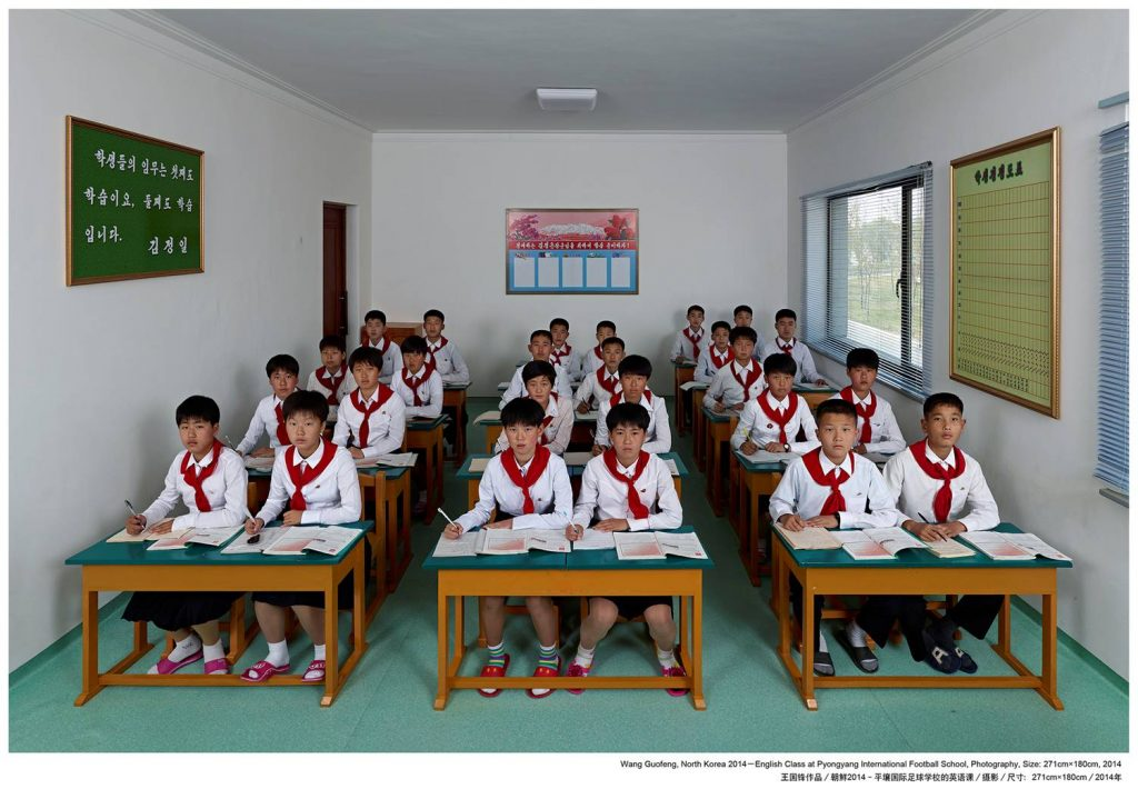 Wang Guofeng .English Class at Pyongyang International Footbal School_271х180_2014