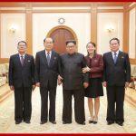 Ким Чен Ын встретился с членами корейской делегации на высоком уровне, посетившими территорию Южной стороны