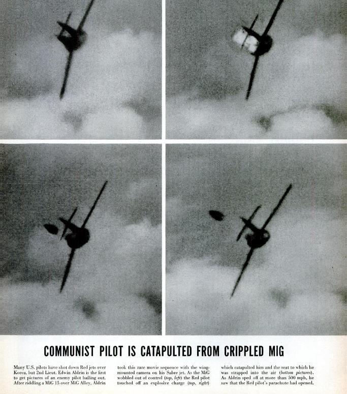 Базз Олдрин сбивает МиГ-15