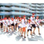 Проведена 33-я церемония поступления в Сондовонский международный детсоюзовский лагерь