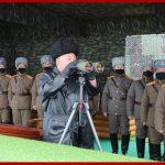 Ким Чен Ын руководил учениями частей Народной Армии по нанесению объединенного огневого удара