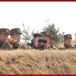 Ким Чен Ын руководил соревнованиями в меткости артиллерийской стрельбы крупных соединений КНА западного фронта